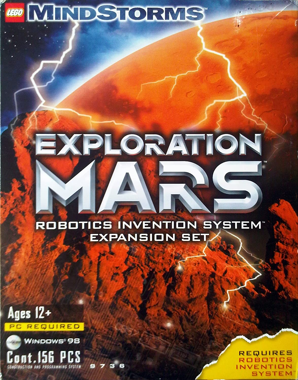 LEGO Mindstorms 9736 Exploration Mars Robotics Invention System Expansion Set