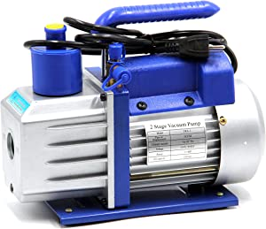 """HFS (R Vacuum Pump Double Stage 3CFM ; 110V/60HZ ; Inlet: SAE 1/4""""-3/8"""" SAE; Ultimate Vacuum: 310-1 PA"""