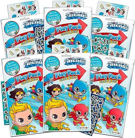 dc comics Super Friends Party Favor Packs Super Set ~ Paquete de 6 ...