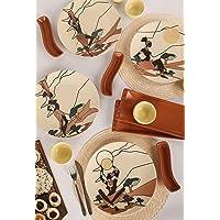 Keramika 4 Kişilik 15 Parça Afrikalı Kadınlar Kahvaltı Takımı 18566-68-69-70