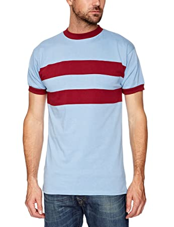 b7544443105 Score Draw Men s West Ham United 1966 No6 Away Retro Football Shirt - Sky  and Claret