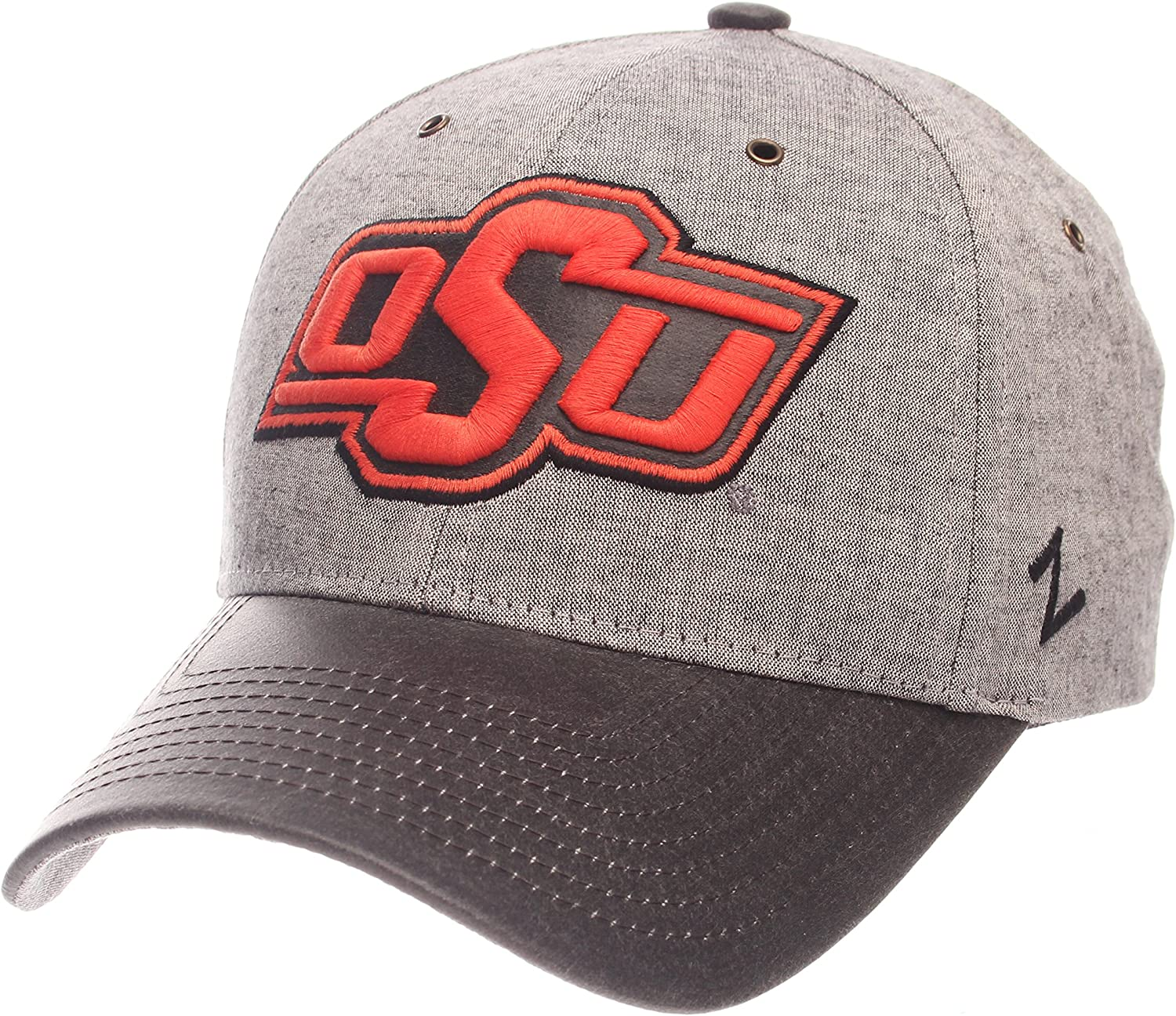 Adjustable Gray NCAA Zephyr Oklahoma State Cowboys Mens The Supreme Hat