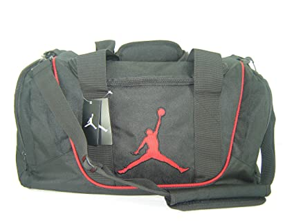 Image Unavailable. Image not available for. Color  Nike Air Jordan Duffel  Gym Bag Black Red 8f0fe9bed83c6