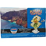 Kauai Coffee, Na Pali Coast Dark Roast, Compostable Single Serve Coffee Cups, 12 Count