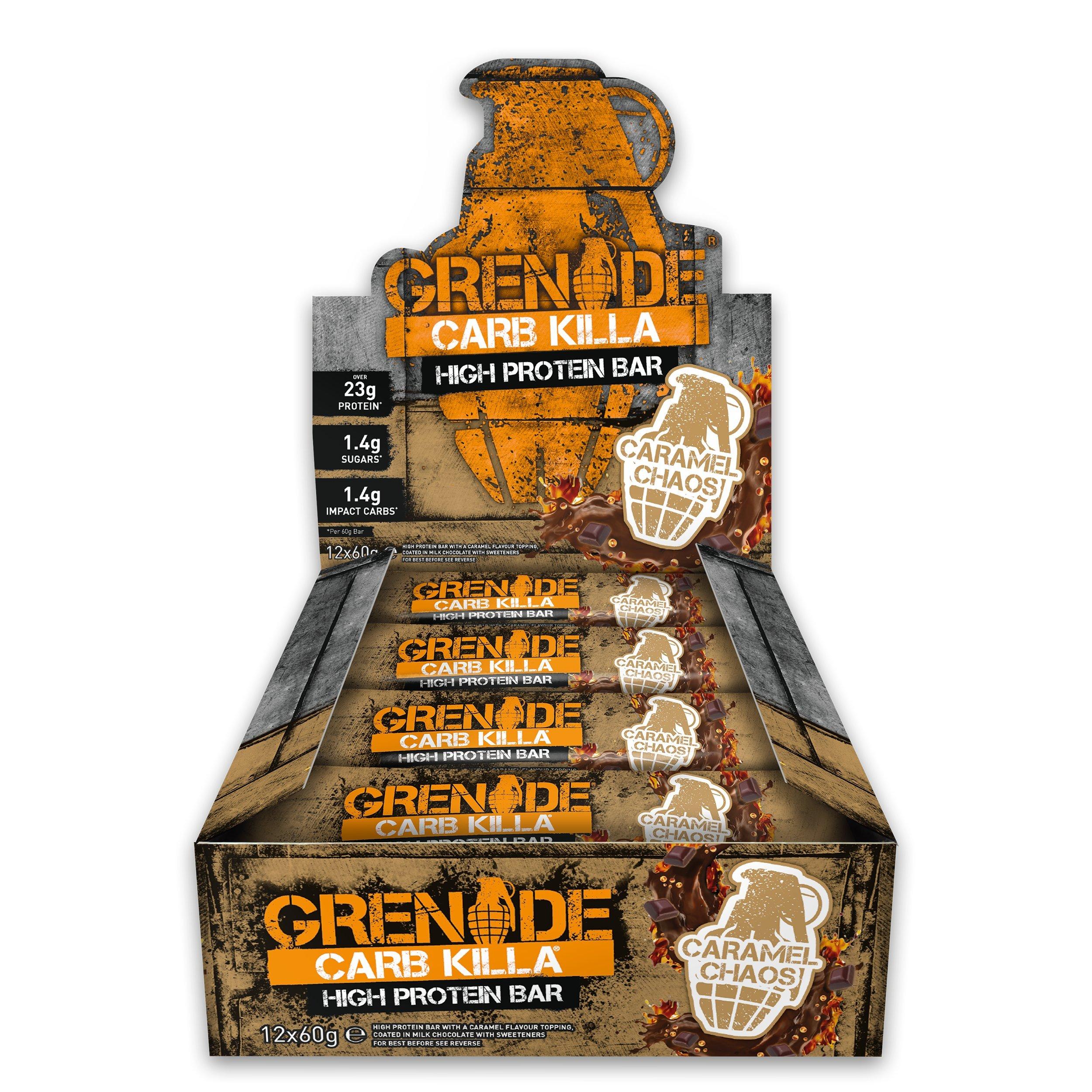 Grenade Caramel Carb Killa Chaos High Protein Bar