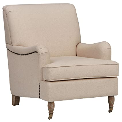 Ravenna Home English Rolled Arm Nailhead Trim Accent Chair, 29