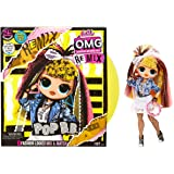 LOL Surprise OMG Remix Pop B.B. Fashion Doll, Plays Music, with Extra Outfit and 25 Surprises Including Shoes, Hair Brush, Do