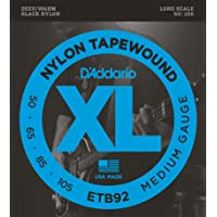 D'Addario ETB92 Tapewound Bass Guitar Strings, Medium, 50-105, Long Scale
