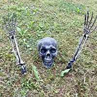 CHICHIC Realistic Looking Skeleton Stakes, Garden Graveyard Yard Lawn Stakes, Halloween Yard Decorations, Ground Breaker Skeleton for Best Outdoor Halloween Decorations Halloween Décor