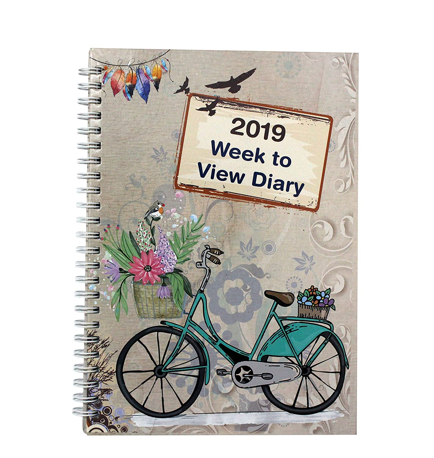 2019 A5 Week to View Diary Vintage Design Busy Life Agenda Diary by Arpan (Vintage Cream)