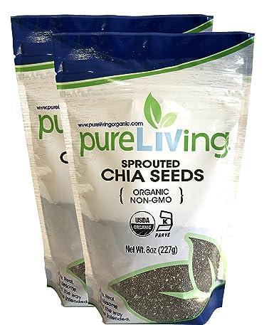 Pure Living – Semillas de chia orgánicas, 2 paquetes – 8 ...