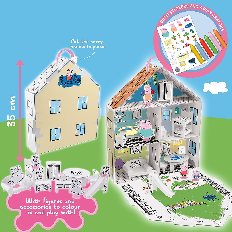 Amazon.es: Peppa Pig 360129 - Casa para decorar con accesorios, multicolor: Juguetes y juegos