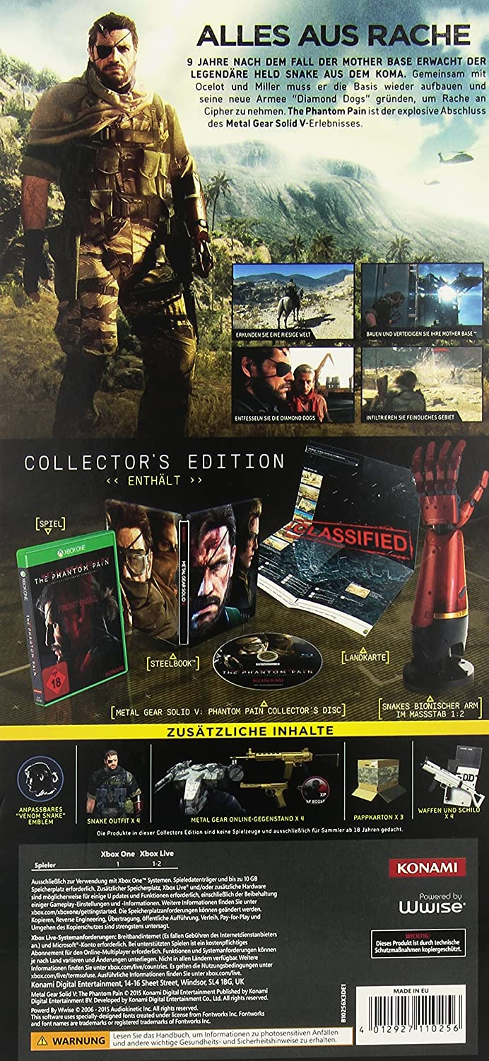 Metal Gear Solid V: The Phantom Pain - Collectors Edition ...