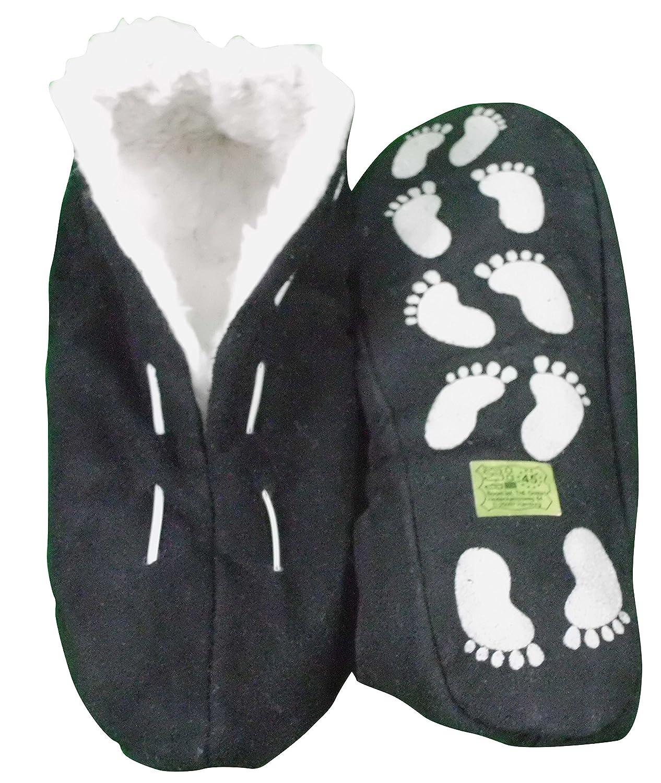Echtleder / Veloursleder Hausschuhe mit Fell Innenfutter Mokassins Pantoffeln ABS-Stopper ab Gr: 35 (sch44) 35 braun 1U74A1hMY