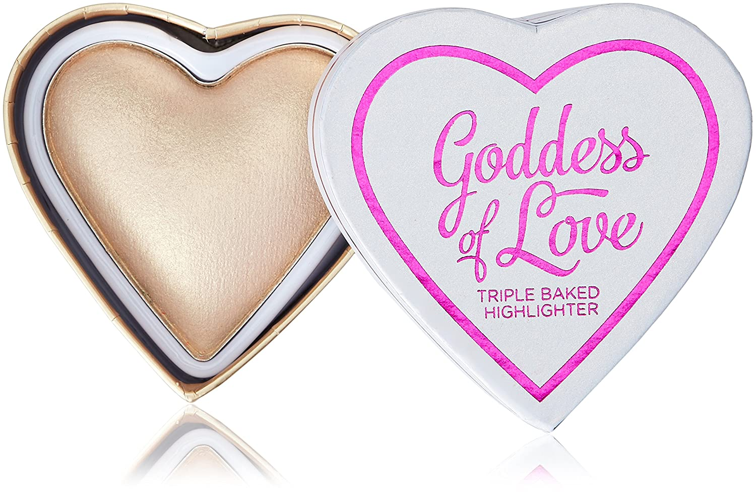 Makeup Revolution I Heart Makeup Hearts Highlighter - Golden Goddess, 10 g 5029066053305