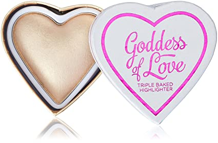Makeup Revolution I Heart Makeup Blushing Hearts Highlighter- Golden Goddess: Amazon.co.uk: Beauty
