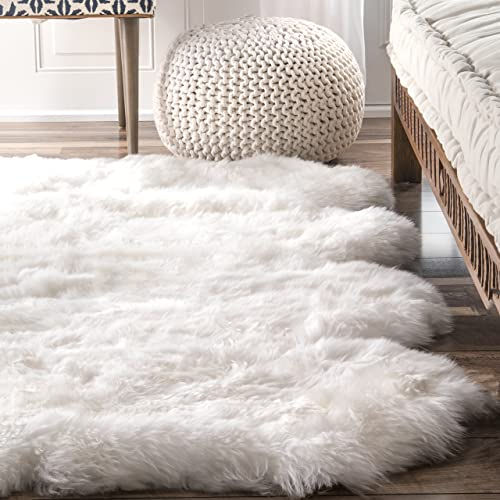 nuLOOM Octo Sheepskin Hand Made Area Rug