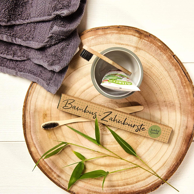 100/% nachhaltig vegan Holzzahnb/ürste f/ür weisse Z/ähne Handzahnb/ürste//Naturzahnb/ürste f/ür Kinder /& Erwachsene umweltschonend /& plastikfrei 1x Zahnb/ürste aus Bambus