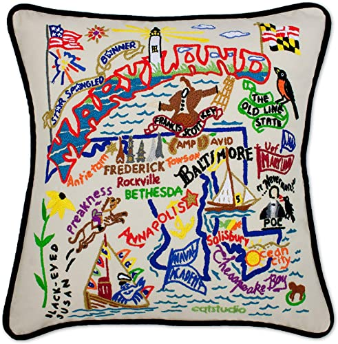 Catstudio Maryland Embroidered Decorative Throw Pillow
