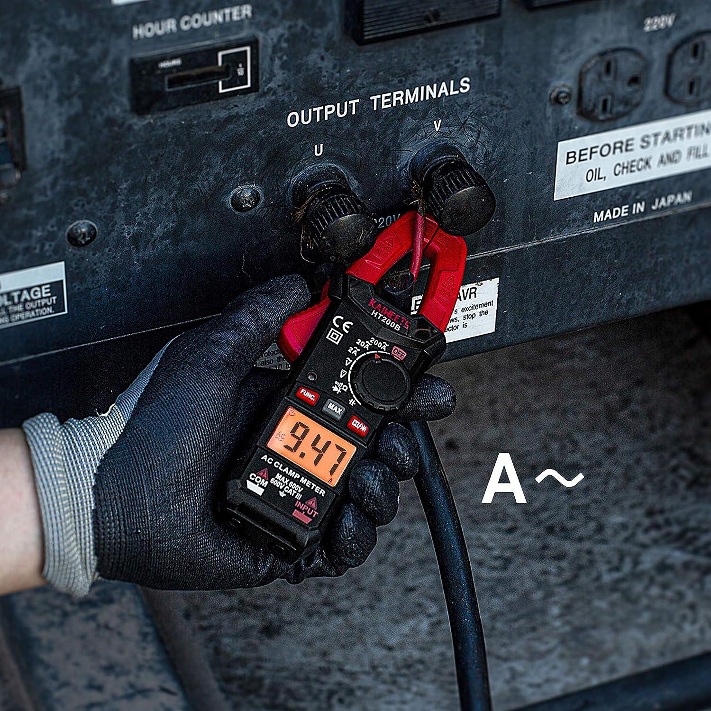 Kaiweets Ht200b Stromzange Messbereich Ac 0 200a Auto Ranging Cat Iii 600 V Zangenmultimeter Misst Spannung Kapazität Durchgang Keine Gleichstrommessung Gewerbe Industrie Wissenschaft