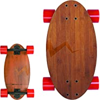 Eggboards Mini Longboard Cruiser Skateboards - Small Board for Adults and Kids with Wide Skateboard Deck 19 Inch in Bamboo Wood