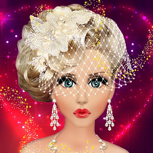 Super Barbie Doll Wedding Bridal Makeup Hairstyle Amp Dressing Up Fashion Short Hairstyles For Black Women Fulllsitofus