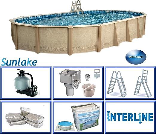 Interline 55000132 Ovalado Pool sunlake Diámetro 9, 75 m x 4, 90 m ...