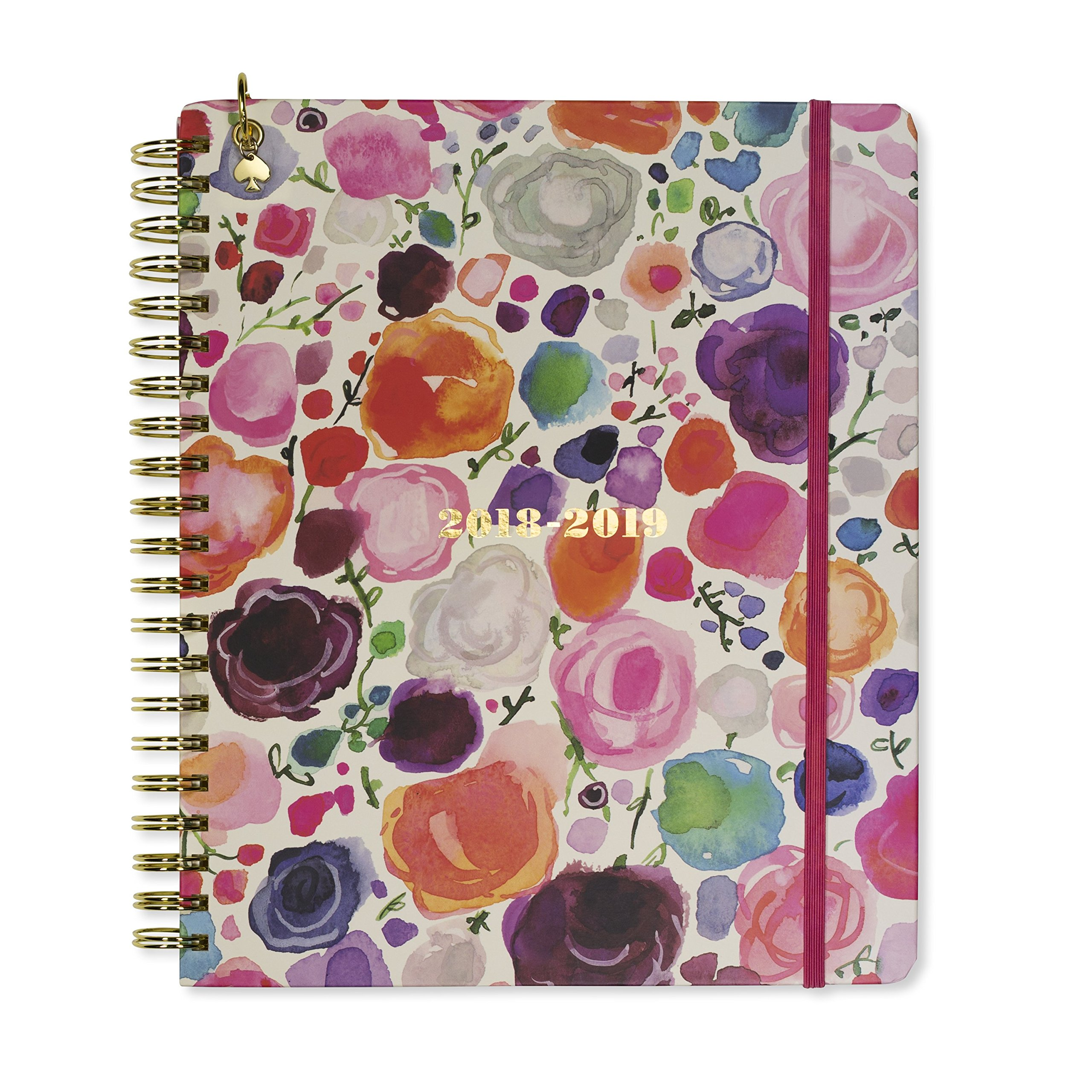 Kate Spade Mega Academic Daily Planner 2018-2019 with Daily Weekly Monthly Views and Happy Stickers (Floral)