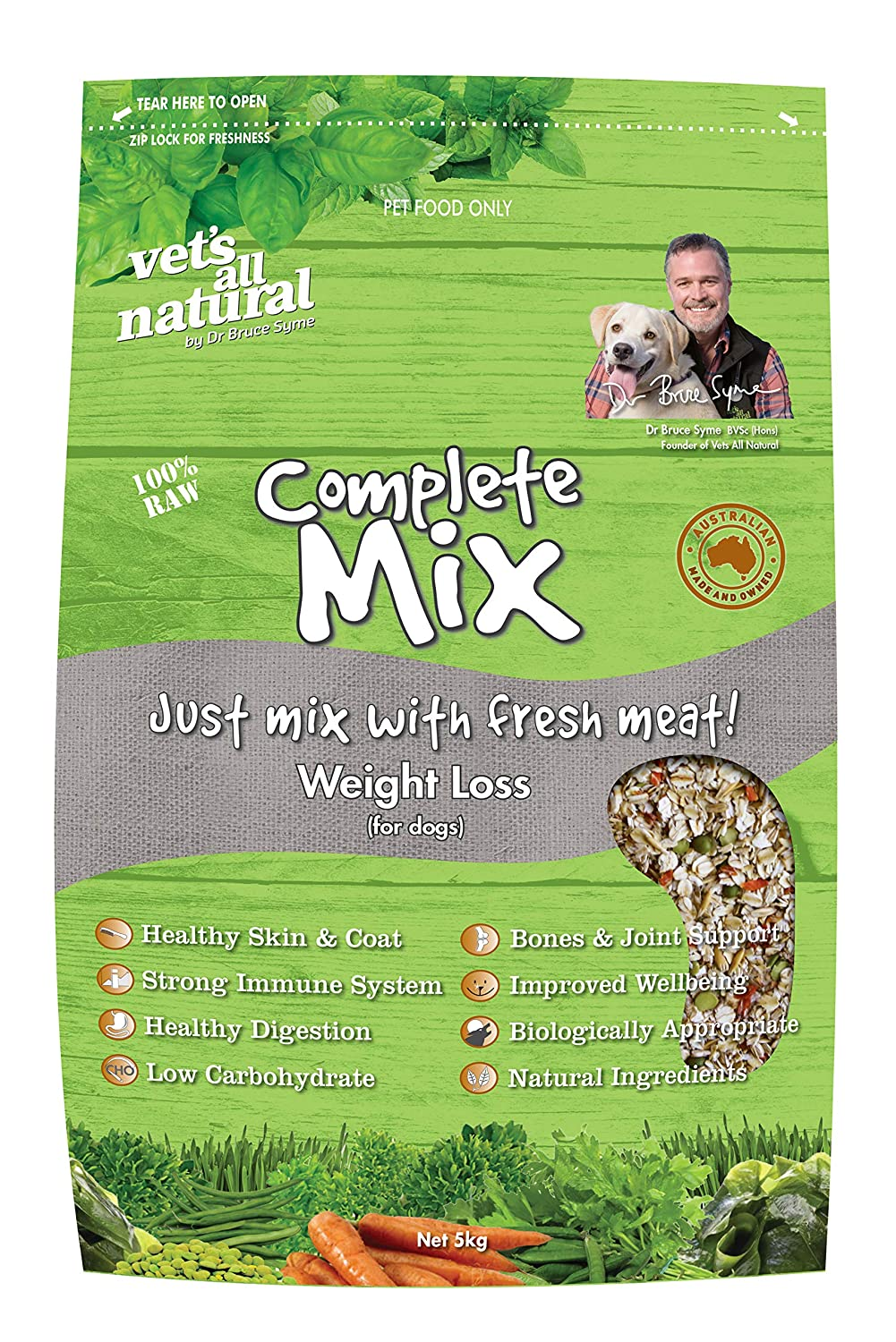 5kg Vets All Natural 5kg Complete Mix Weight Loss