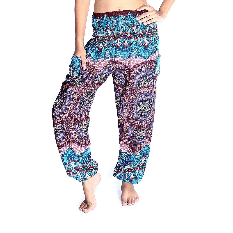4c8565c61080c Amazon.com: Boho Pants Harem Pants Yoga Trousers for Woman Bohemian Beach  Pants: Clothing