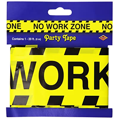 No Work Zone Party Tape Party Accessory (1 count) (1/Pkg): Childrens Party Decorations: Kitchen & Dining