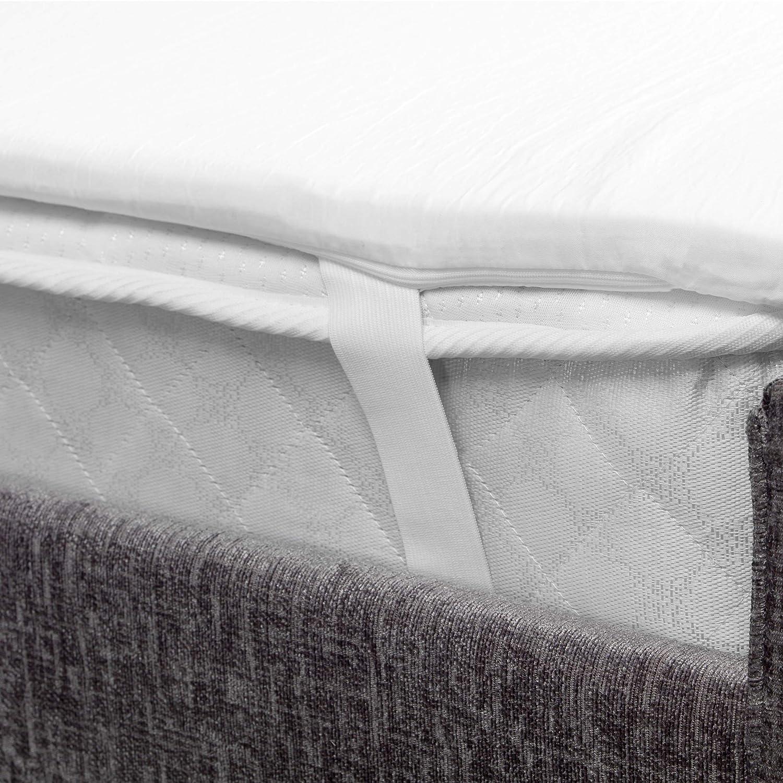 200 x 150 cm Blanco DreamTime Cubrecolch/ón de Espuma viscoel/ástica Sensible al Calor y la presi/ón MFDT95976 tama/ño Extragrande