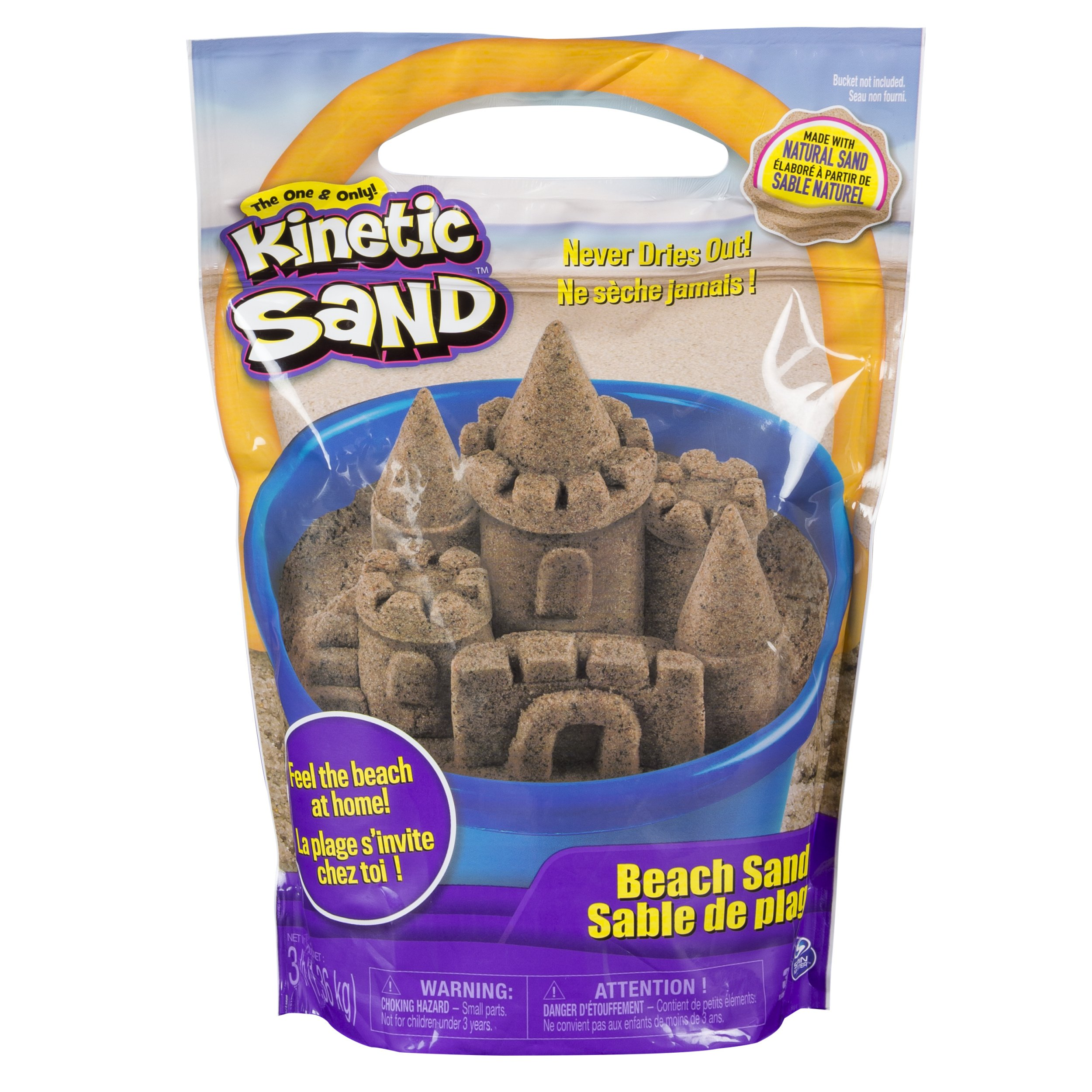 Kinetic Sand, 3lbs Beach Sand for Ages 3 & Up (Packaging May Vary) by Kinetic Sand