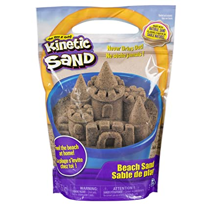 3912e7d8f3 Amazon.com: Kinetic Sand, 3lbs Beach Sand for Ages 3 & Up (Packaging May  Vary): Toys & Games