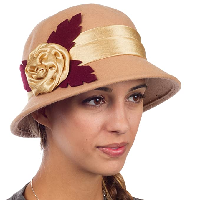 1920s Hat Styles for Women- History Beyond the Cloche Hat Sakkas Farrah Vintage Style Wool Cloche Hat $18.99 AT vintagedancer.com