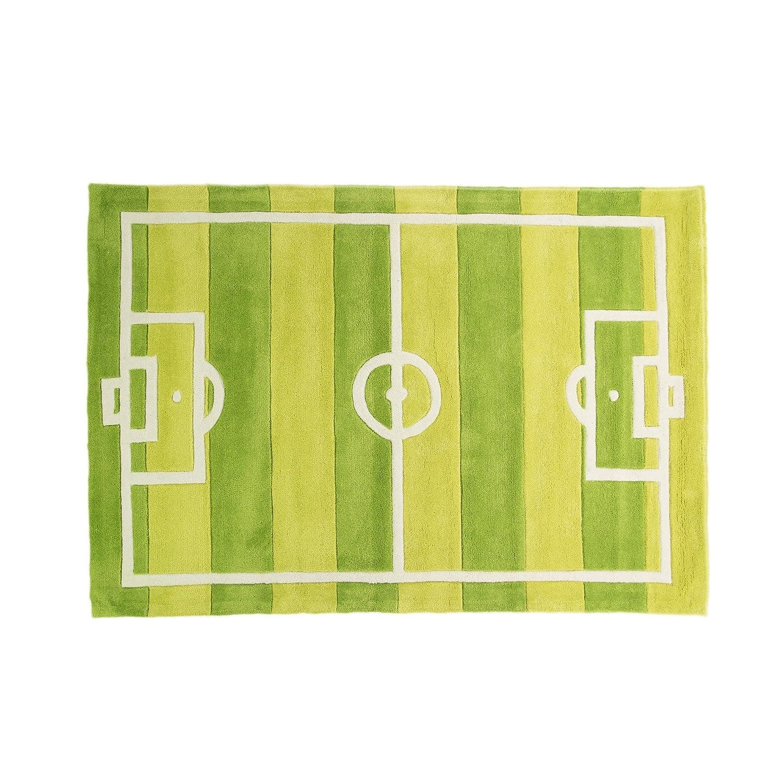 Decoración del hogar Pippa G Kiddy Play Football Pitch Green Rug 70 x 100cm by Flair Rugs Alfombras y moquetas