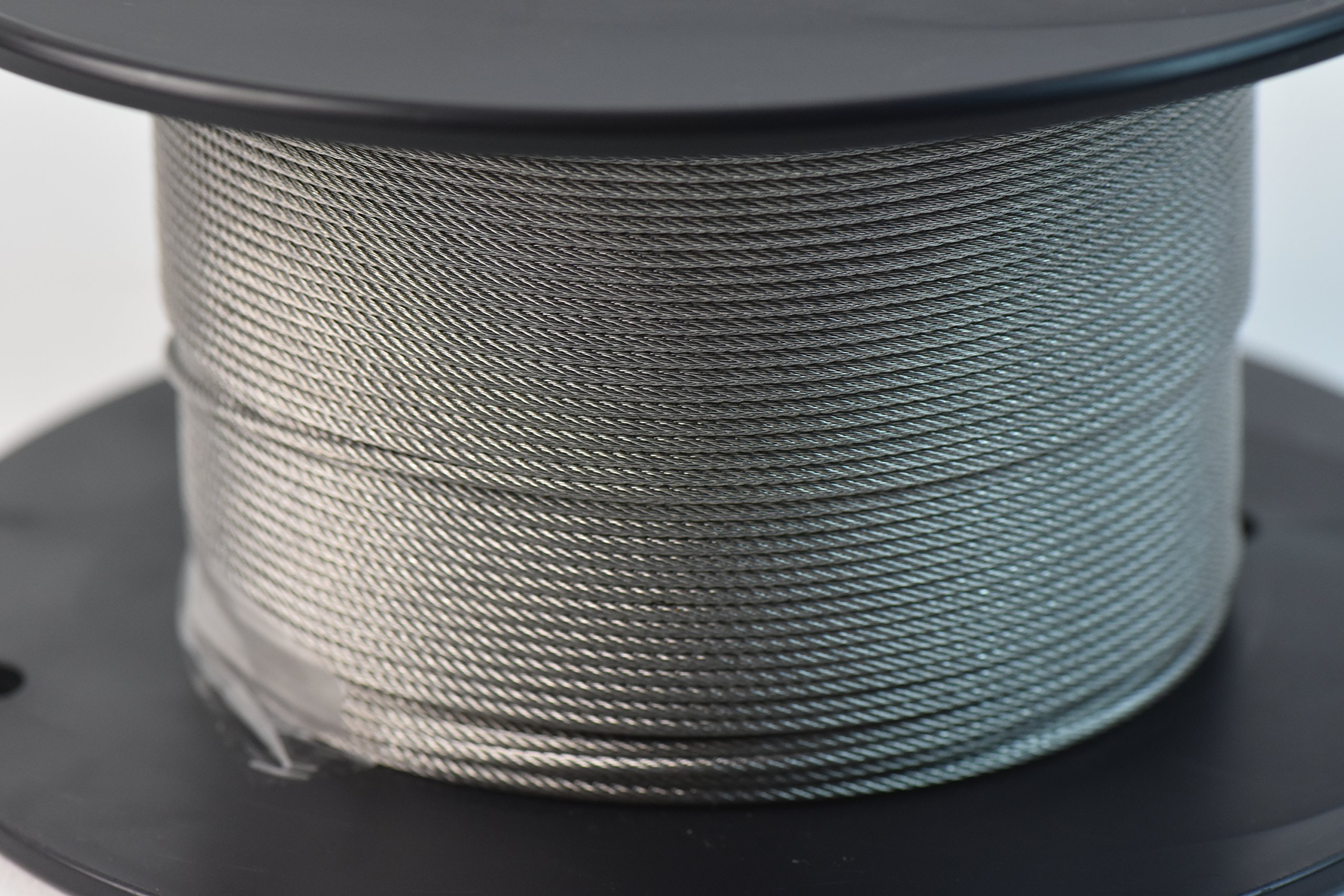 SwageRight W-13-002 Wire Rope, 1/16'' x 250' Spool, 7 x 7 304, 6'' Height, 3'' Wide, 3'' Length, Stainless Steel, Silver Tone