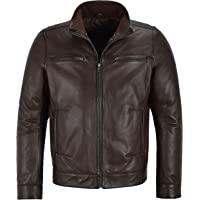 Smart Range Bruce Will Men's Real Leather Jacket Fitted Classic Collar Fashion Soft Lambskin