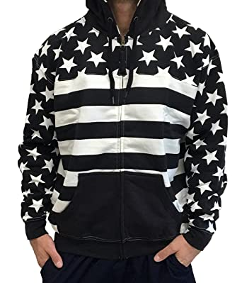 Black american flag jacket