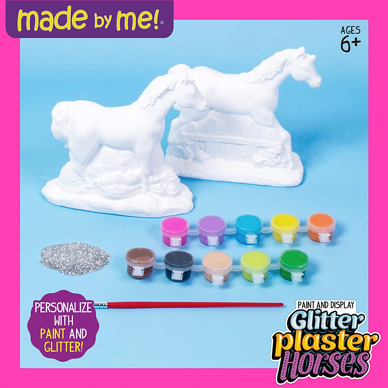 PlasterCraft Supplies,Youth Chalkware Camp Projects DIY Plasters ChalkWare Ready To Paint Carousel Horse Plaster Craft Summer Activity