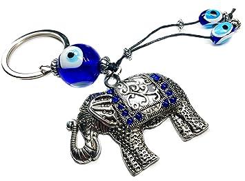 Amazon.com: Llavero mal de ojo con elefante para protección ...