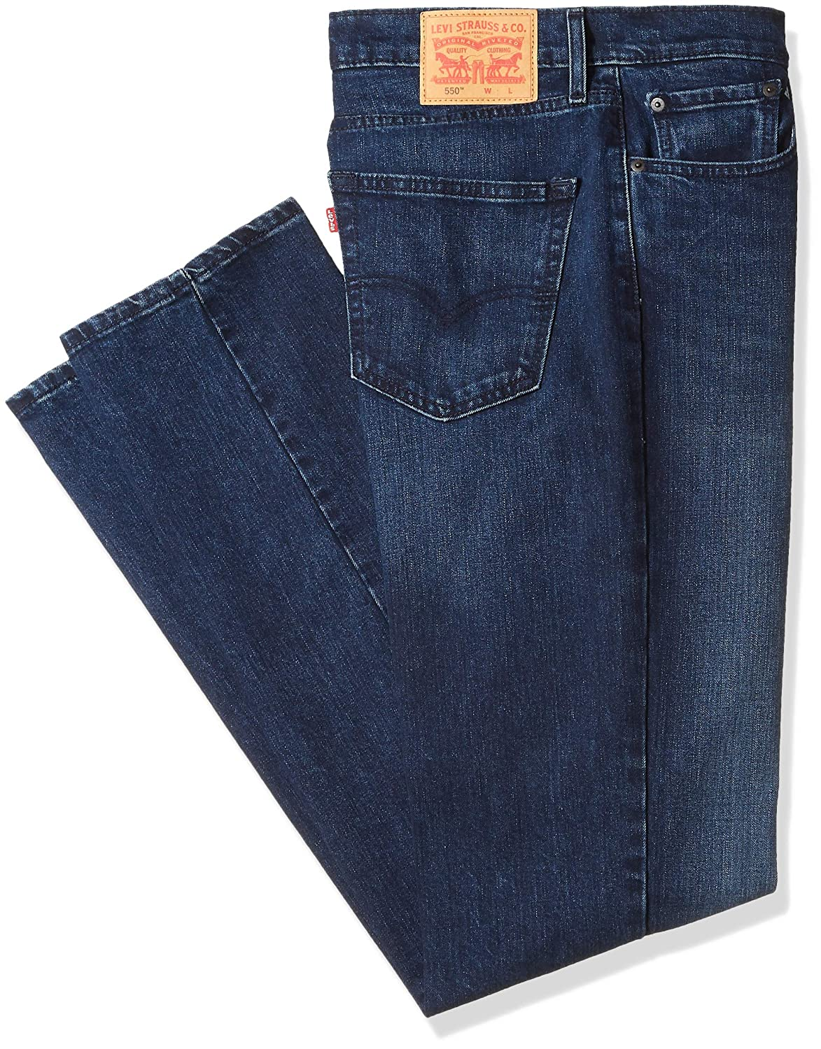 59f42248e0b Relaxed through thigh. Slightly tapered leg. Zip fly with button closure.  Wash and dry inside out with like colors; liquid detergent is recommended
