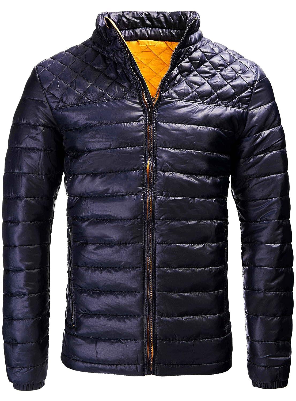 INDICODE Men's Jacket Light Weight Down Mens Jacket Quilted Pattern Weatherproof Jacket Outdoor Jacket Transition Jacket S M L XL