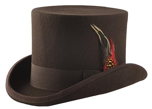 Brown Wool Felt Top Hat - Size Small ef823b3b3223