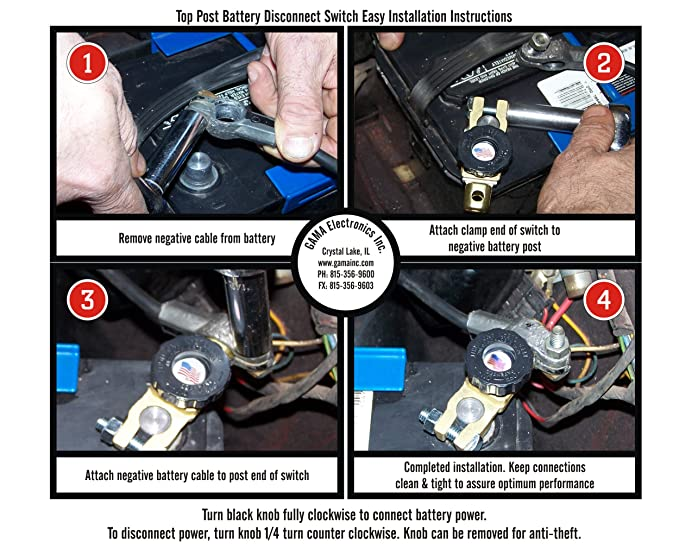 amazon com top post battery master disconnect switch automotive rh amazon com