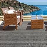 Tapis casa pura® pour intérieur et extérieur Lucca | tailles diverses | au mètre - matière très résistante, facile d'entretien | 60x100cm