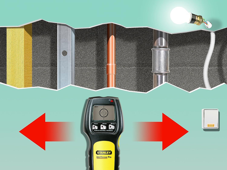 Stanley 077255 Intellisensor - Detector de materiales (madera y metal): Amazon.es: Bricolaje y herramientas