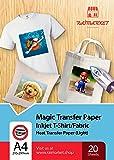 Iron on Transfer Paper for Light Fabric (T-Shirt Transfer Paper) by Raimarket | 20 Sheet | A4 Inkjet Iron On Transfer Paper | DIY Fabric Printing, Unleash Your Creativity (L20)