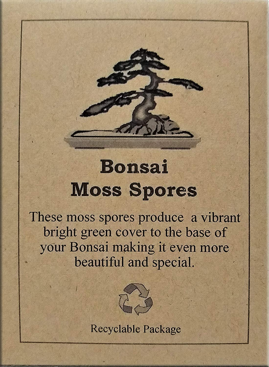Grow Bonsai Moss Spores, perfect addition to your bonsai tree, no tools required to plant maintain or grow, can be used in reptile enclosure DistantLife
