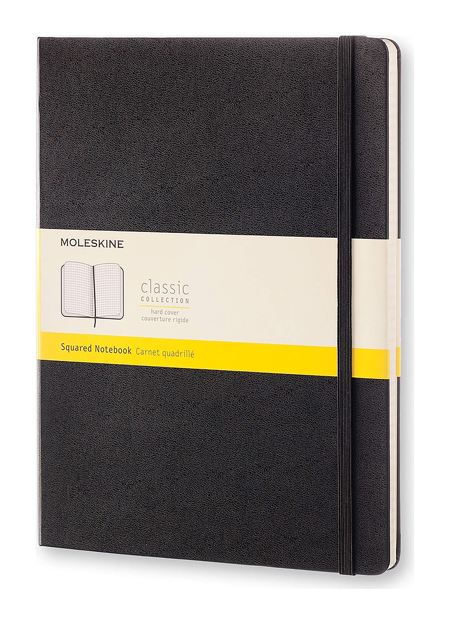Moleskine Classic Notebook, Extra Large, Squared, Black by Moleskine